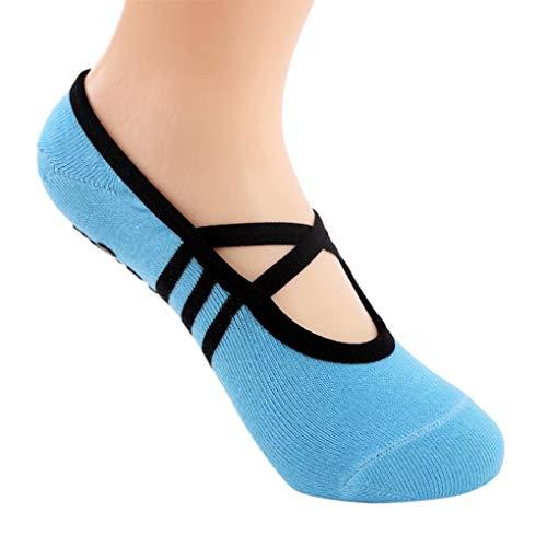 Socks, FORUU 1 Pair Yoga Fitness Non Slip Pilates Massage Ballet Exercise Gym ()