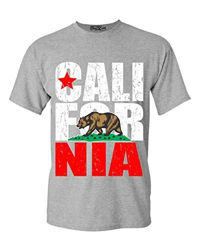 (Shop4Ever California State Flag Bear T-Shirt X-Large Sports Grey)