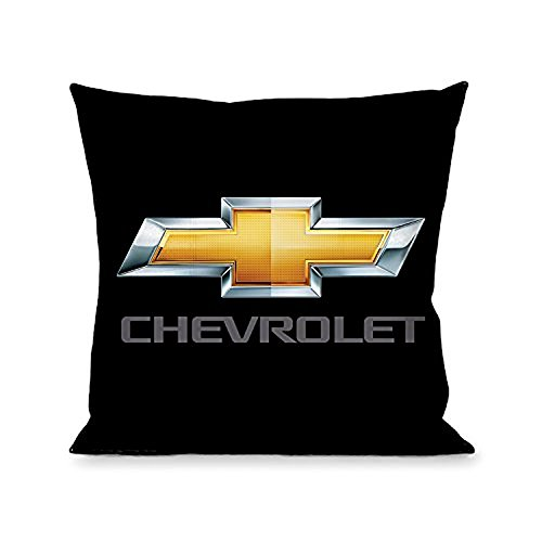 Buckle Down Throw Pillow - Chevy Bowtie/CHEVROLET Black/Gold/Gray