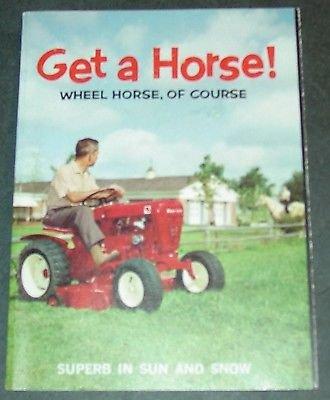 (VINTAGE 1960'S WHEEL HORSE LAWN & GARDEN TRACTOR SALES BROCHURE 3 1/2