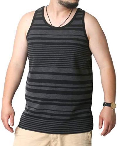 大きいサイズ メンズ タンクトップ ブラック 2Lサイズ:(身丈74cm 肩幅31cm 身幅57cm 胸囲100~108cm)
