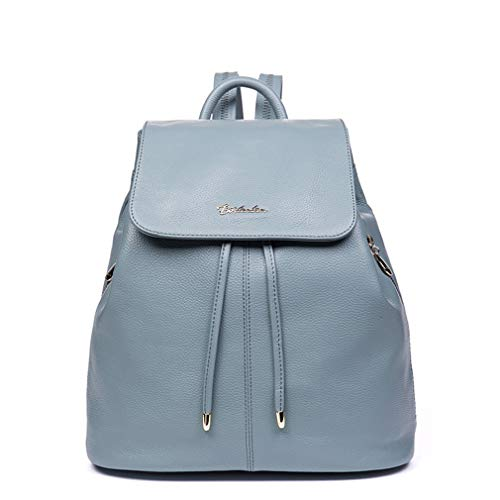 Teenagers For Drawstring Fashion Backpack Travel Leather Green Girls Light Backpack School Female Cow Women Bags rtYqFw0Yx