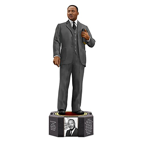 The Hamilton Collection Dr Martin Luther King Jr Figurine by Keith Mallett with Photos and Quote