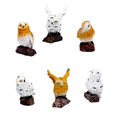 HanYoer 6 pcs Cute Owl Animal Characters Toys Figurines Playset, Garden Cake Decoration, Cake Topper: Toys & Games