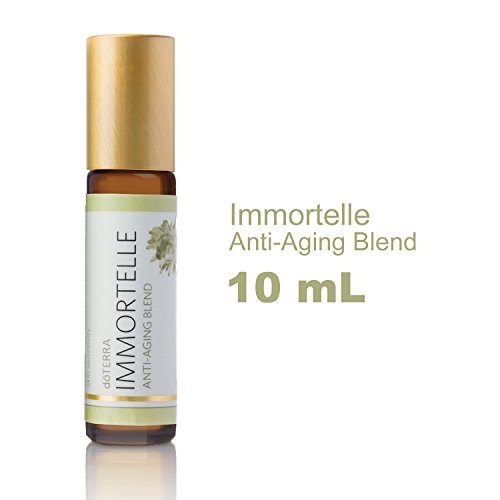 doTERRA - Immortelle Essential Oil Anti-Aging Blend - Helps to Reduce Appearance of Wrinkles and Fine Lines, Promotes Smoother, More Radiant, and Youthful Skin; For Topical Use - 10 mL