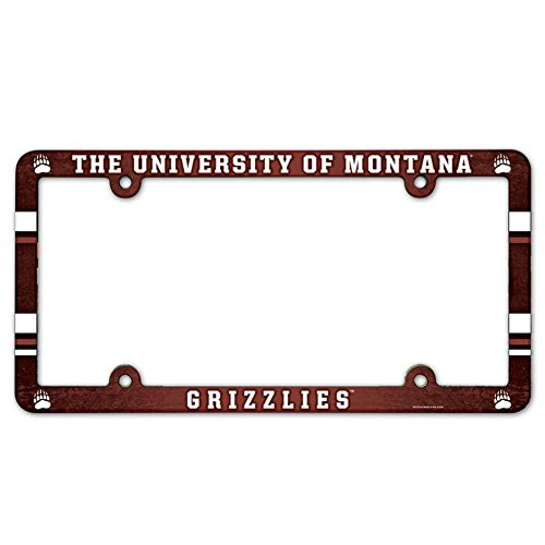 NCAA License Plate with Full Color Frame, University of Montana ()