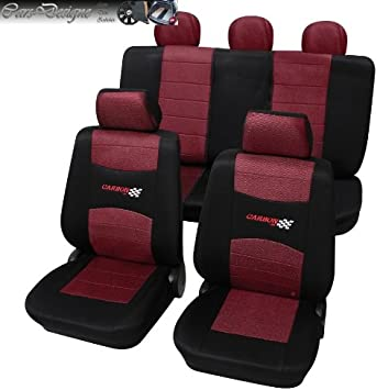 Sitzbezüge Sitzbezug Schonbezüge für VW New Beetle Dunkelgrau Sportline Set