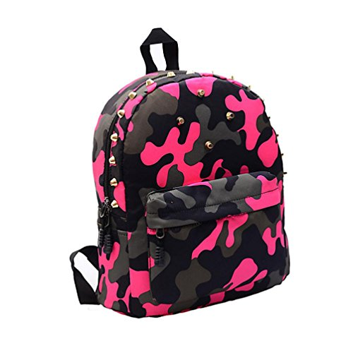 Outtop Unisex Camouflage Travel Backpack School Shoulder Bag (Hot (Camo Purses Cheap)