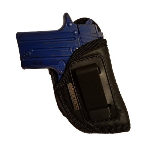 ECO LEATHER Concealment Holster Inside The Waist With Metal Clip Fits ANY SMALL 380 WITH LASER, Keltec, Ruger LCP, Diamond Back, Small 25 & 22 CAL (right) (CHP-71AL-RH) (Magazine Raven 25)