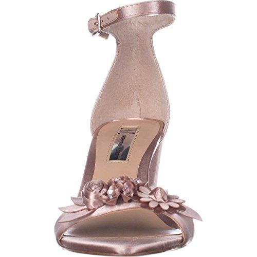 INC International Concepts Frauen Offener Zeh Besonderer Anlass Knoechel Riemen Sandalen Pink Bisque