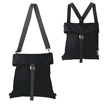 Convertible backpack shoulder bag for women & men, expandable & water resistant