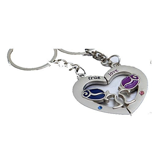 ACEE DEAL Couple Keychain Love Keychain Key Ring by ACEE DEAL