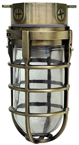 (Woods L1706AB Vandal Resistant 150W Incandescent Security Light, Ceiling Mount, Antique)