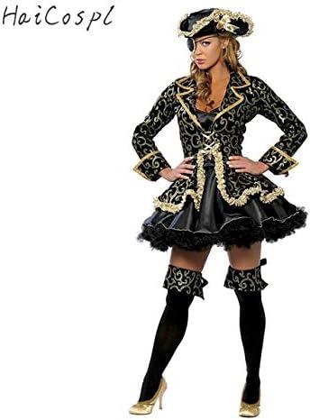 WSJDE Disfraz de Pirata Falda Sexy para Mujer Fiesta de Halloween ...
