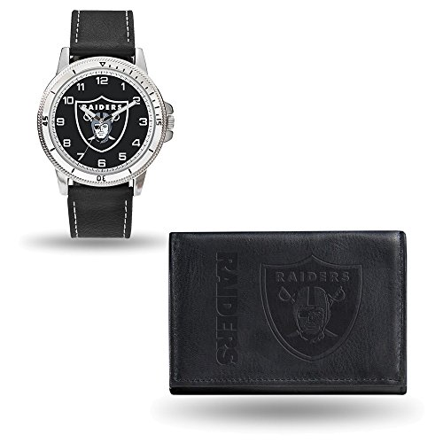 NFL Oakland Raiders Leather Watch/Wallet Set by Rico Industries