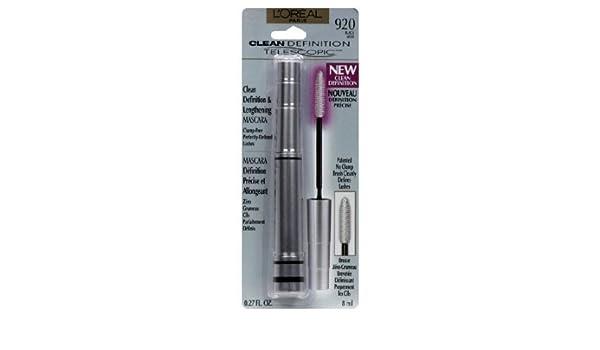 Amazon.com : Loreal Paris Telescopic Mascara Clean Definition, Black-920 0.27-fluid Ounce : Beauty