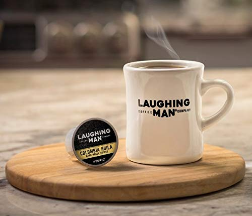 Laughing Man, Colombia Huila, Single-Serve Keurig K-Cup Pods, Dark Roast Coffee, 96 Count (6 Boxes of 16 Pods) by Laughing Man (Image #4)