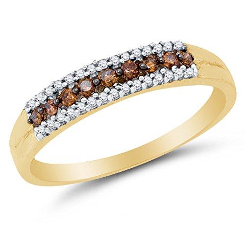 Diamond 10k Gold Band - 9