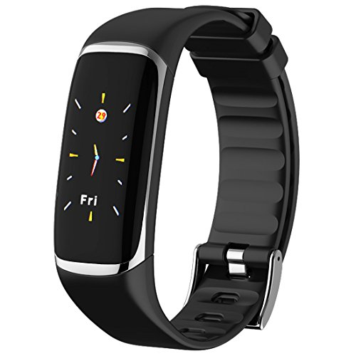 Color Screen Fitness Tracker, HRV / SpO2 / Heart Rate/Blood Oxygen/Sleep Tracker for iOS/Android Smartphones, Silver by MBHB