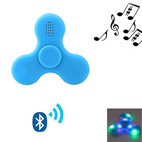 FIDGET DICE Hand Fidget Toy Spinners Stress Reducer With LED and Wireless Bluetooth Speakers, Fidget Work Ultra Fast Bearings