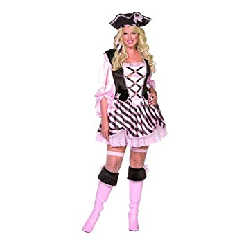Pretty Pirate Plus Size Fancy Dress Costume Uk20 22 Amazon