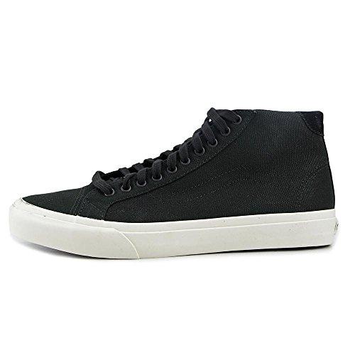 Vans Herren Court Mid Canvas Low Top Schnürschuhe Fashion Sneakers Schwarz