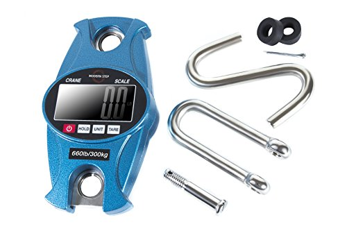 Bow Left Components (Digital Professional Crane Scale Hanging 660 Lb 300 Kg with Accurate Reloading Spring Sensor for Hunting, Fishing, Farm by Modern Step (Blue))