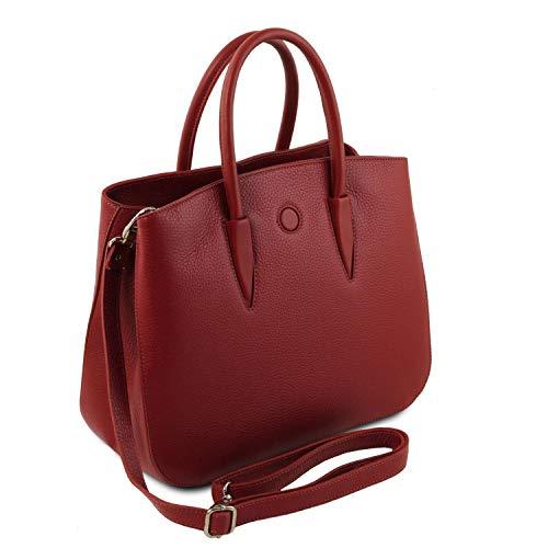 Noche Camelia Tuscany Bolso En Piel Rojo Leather 1F6456Wnt