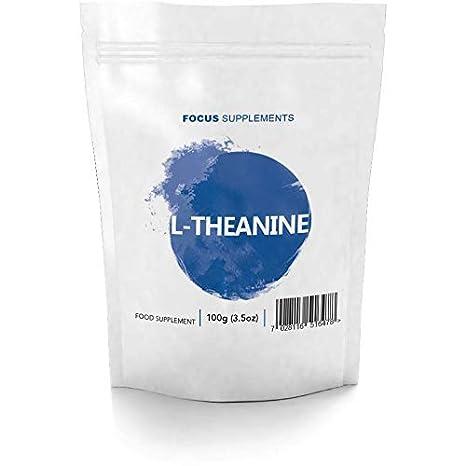 L-Teanina Polvo Puro de Focus Supplements Para la Concentración y la Reducción de Estrés