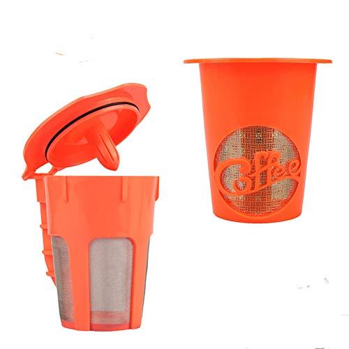 2 Pack Reusable Gold Plated Mesh Coffee Strainer Refillable Coffee Filter For Keurig 2.0, K200, K300, K400, K500