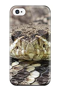 Iphone Case - Tpu Case Protective For Iphone 4/4s- Eye-to-eye With Crotalus Adamanteus