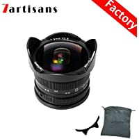 7artisans 7.5mm F2.8 APS-C Wide-angle Fisheye Fixed Lens(Aspherical) for Compact Mirrorless Cameras Fuji FX Mount X-A1 X-A2 X-A2 X-A10 X-AT X-T10 X-T20 X-Pro1 X-Pro2 X-E1-Black