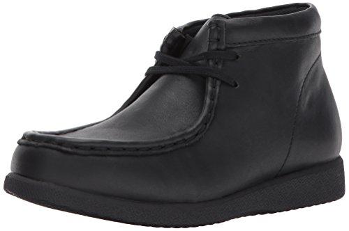 Hush Puppies Unisex-Kids Bridgeport III Chukka Boot, Black Leather, 4 Medium US Big Kid - Bridgeport Leather