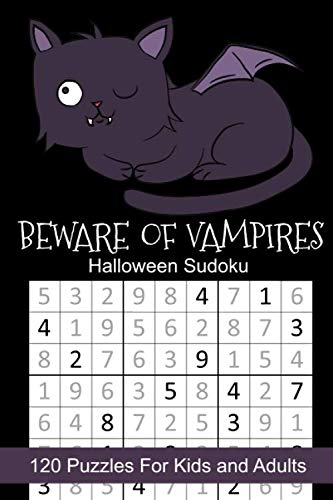 Halloween Goody Bags For School (Beware of Vampires Halloween Sudoku: Halloween Themed Puzzles Book Number Solve for Kids and)