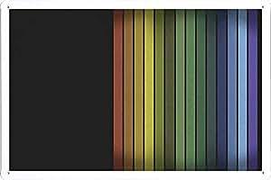 ARMVAS DÉCOR Cartel de chapa La placa de metal 20x30cm - Rayas coloridas del vintage
