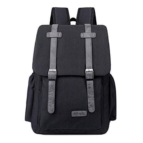 USB Charging Backpack Men Backpacks Teenagers Boys Male Waterproof Oxford Travel Backpack Black 30x38x10cm ()