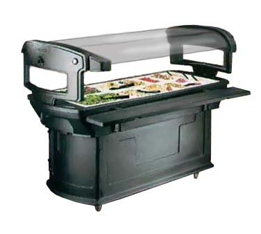 6' Maximizer - Carlisle 771103 Black 6' Maximizer Portable Food / Salad Bar