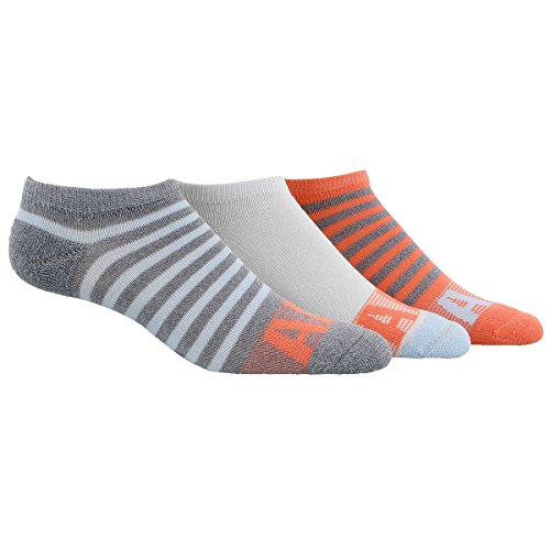 adidas Womens Climalite Superlite No Show Socks (3 Pack), Grey Clear Onix Marl/Ice Blue/Sun Glow/White, Size 5-10