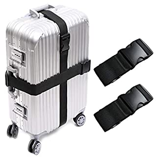 Darller 2-4 PCS Luggage Straps Suitcase Belts Travel Accessories Bag Straps