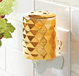 Better Homes Gold Metallic Faceted Holiday or Everyday Design Outlet Style Plug-in Fragrance Wax Warmer
