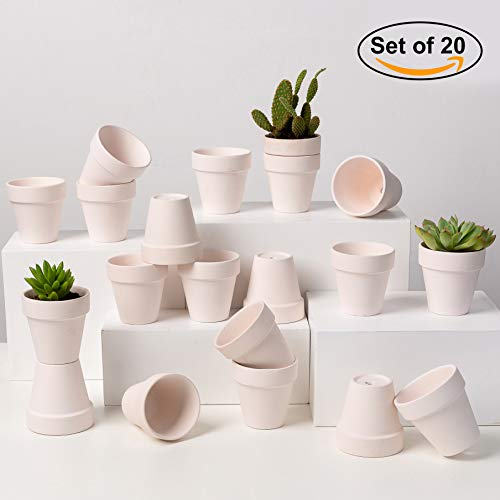 Terra Cotta Pots to Paint 2.8'' 20 Pcs Mini Small Clay Pottery Planter for Cacti Tiny Baby Succulent Plants Ideal for Wedding Birthday Garden Party Window Desk Coffee Table