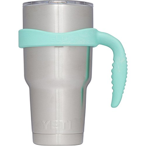 Grab Life Outdoors 30oz Tumbler Handle - Perfectly Fits 30 Oz YETI Rambler, Ozark Trail & Many More - Handle Only (Seafoam)