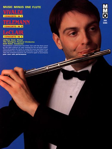 - Vivaldi - Concerto in F, Telemann - Concerto in D, and LeClair - Concerto in C: Music Minus One Flute (Music Minus One (Numbered))