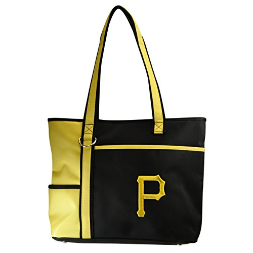Charm14 MLB Pittsburgh Pirates Tote Bag with Embroidered Logo