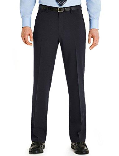 Hommes Farah Podarge Poche Formelle Pantalon Smart Bleu 122cm x 74cm