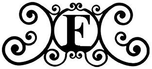 (Wrought Iron House Plaque Letter F)