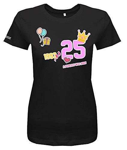 A Princess was Born - 25 - Jahrgang 1993 - Sticker Bomb - Damen T-Shirt Schwarz