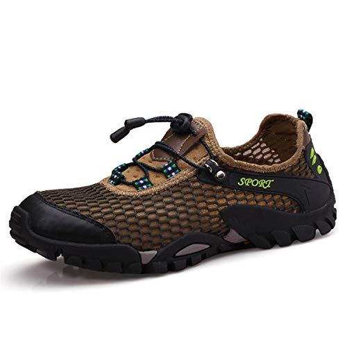 Man Sportivi Uomo Donna Shoes Suola Antiscivolo All'aperto Outdoors Marrone Azer k05 Scarpe Corsa Wading Estate Acqua UK Walking Breathable da Viken Sandali Holes Sandals Sneakers Hiking xAvZt
