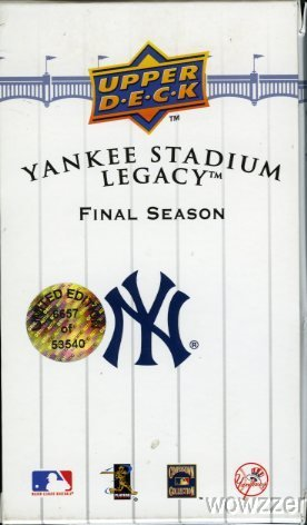 2008 Upper Deck  Yankees Stadium Legacy FINAL SEASON Factory Sealed Box Set! Extremely Rare 100 Cards set with Game Used Jersey AND Game Used Bat Card ! Set is Lmited Edition and #'d !