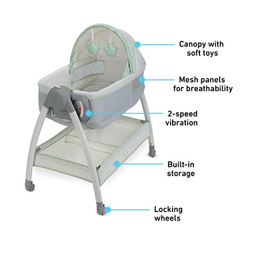 41a0N92 zlL - Graco Dream Suite Bassinet, Mason, One Size